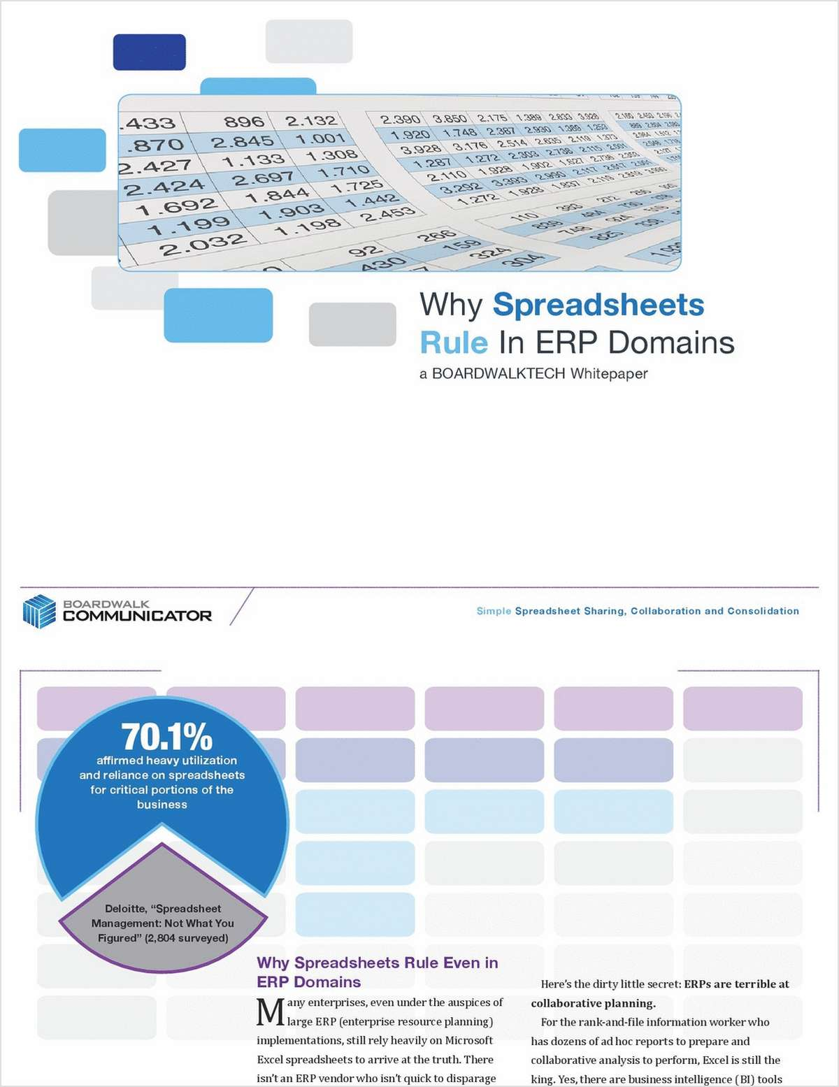 Why do spreadsheets rule even in erp environments free boardwalktech inc white paper