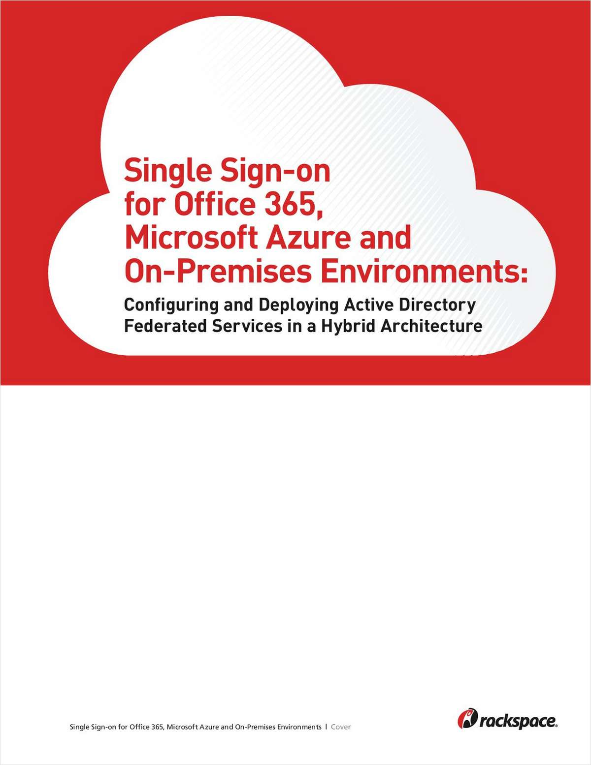 Single sign on for office 365 microsoft azure and on premises environments free rackspace - Single sign on with office 365 ...