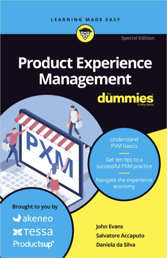 Product Experience Management (PXM) for Dummies, Free Akeneo