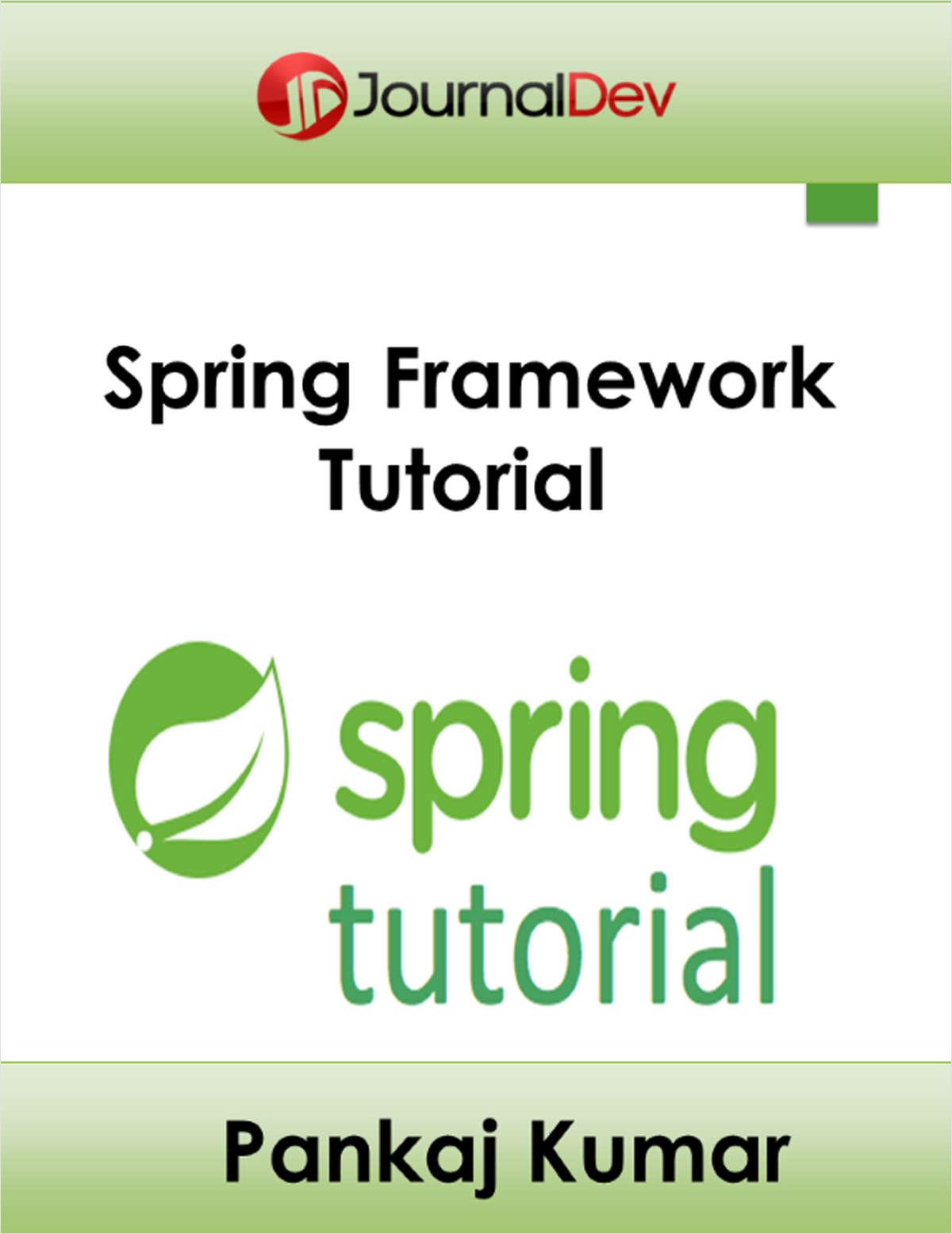 Java ee spring framework tutorial free journal dev ebook baditri Gallery