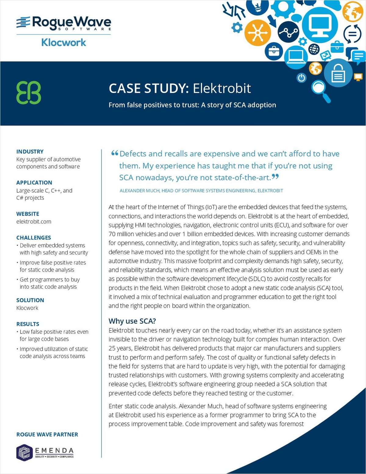 global management case study elektrobit